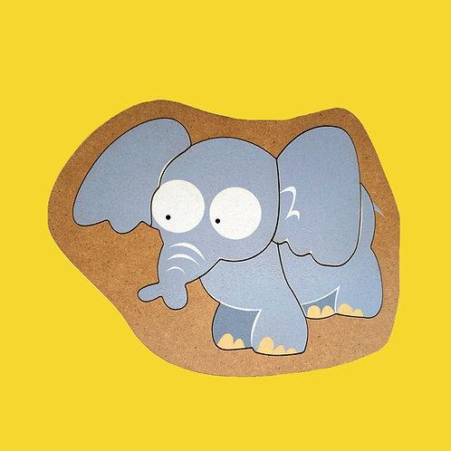 Rompecabezas De Madera Elefante