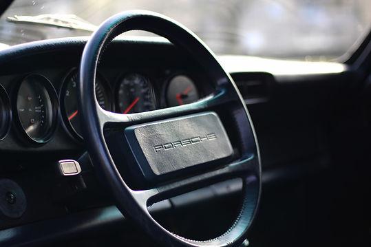 Porsche. Porsche steering wheel. Modern classic Porsche