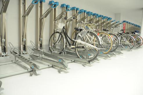スライド式サイクルラック