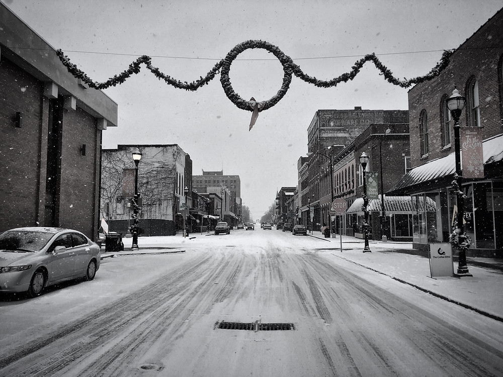 Snowfall in Downtown Springfield