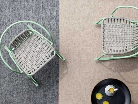 Ponza: an outdoor rug that combines tradition and hi-tech yarns
