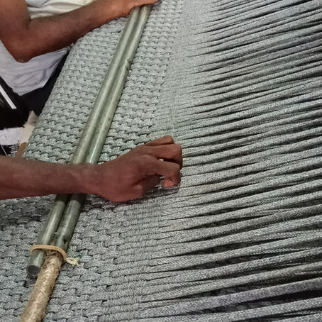 How a Warli rug is made