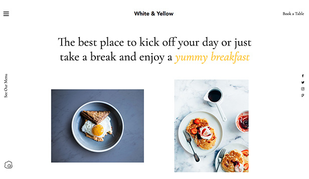 Kafé og bakeri website templates – Breakfast Cafe