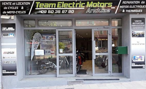 Team Electric Motors Anduze - Vente et location motos et vélos électriques