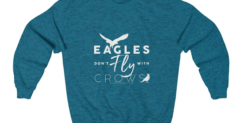 Eagles & Crows Crewneck Sweatshirt (White)
