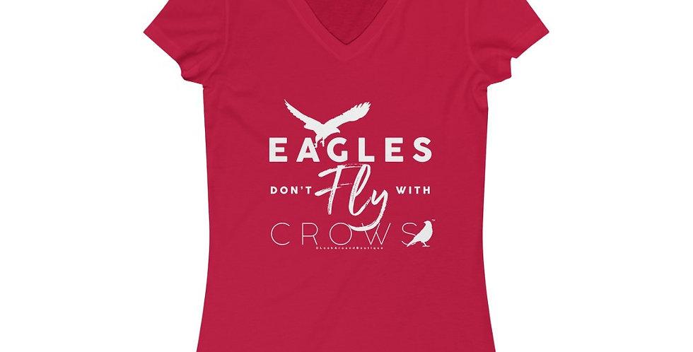 Eagles & Crows V-Neck Tee (White)