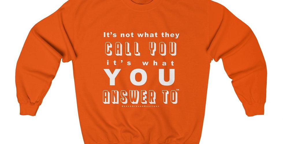 Call & Answer Crewneck Sweatshirt (White)