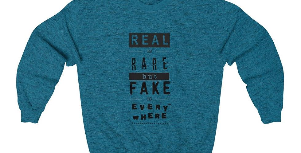 Real & Fake Crewneck Sweatshirt (Black)