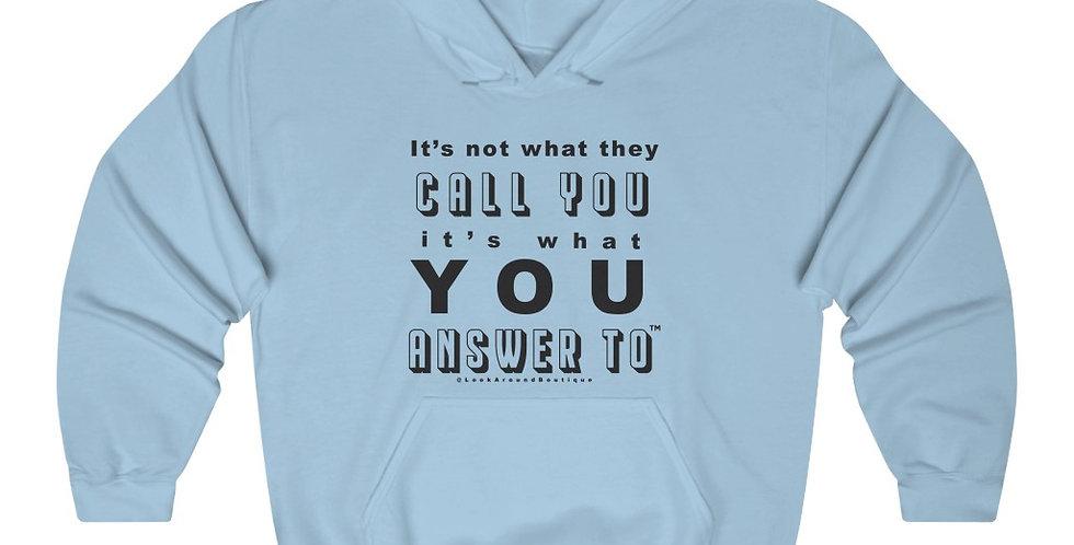 Call & Answer Hoodie (Black)