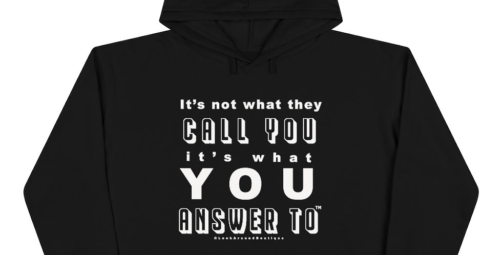 Call & Answer Crop Hoodie