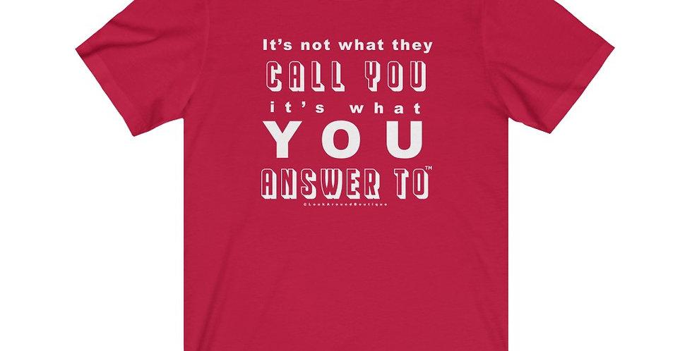 Call & Answer Tee (White)