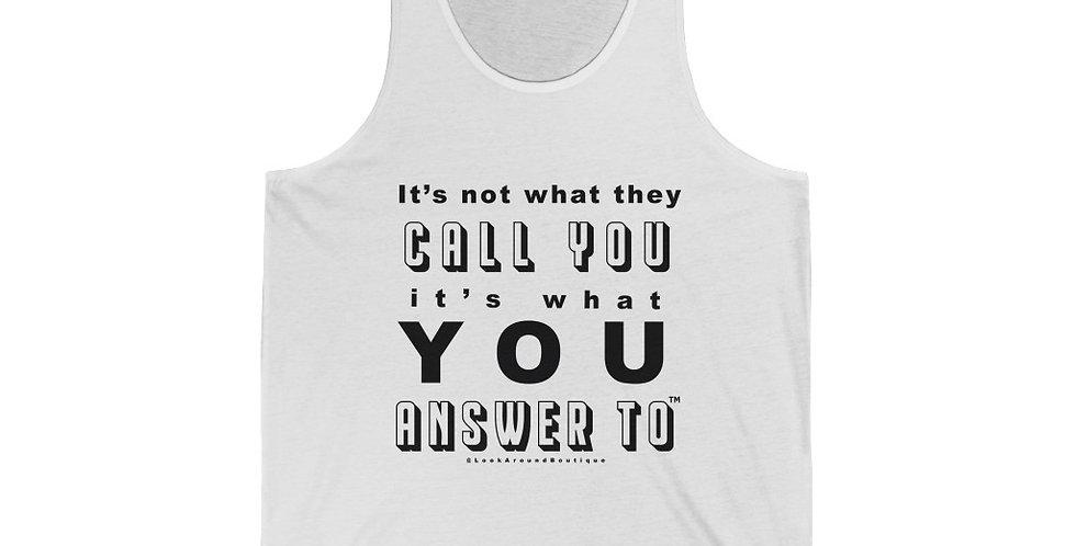 Call & Answer Tank (Black)