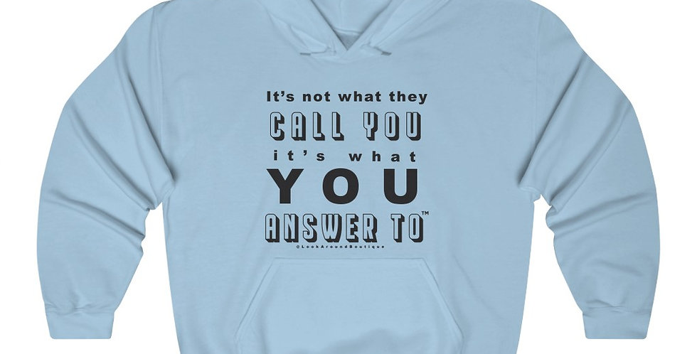 Call & Answer Hoodie (Black)