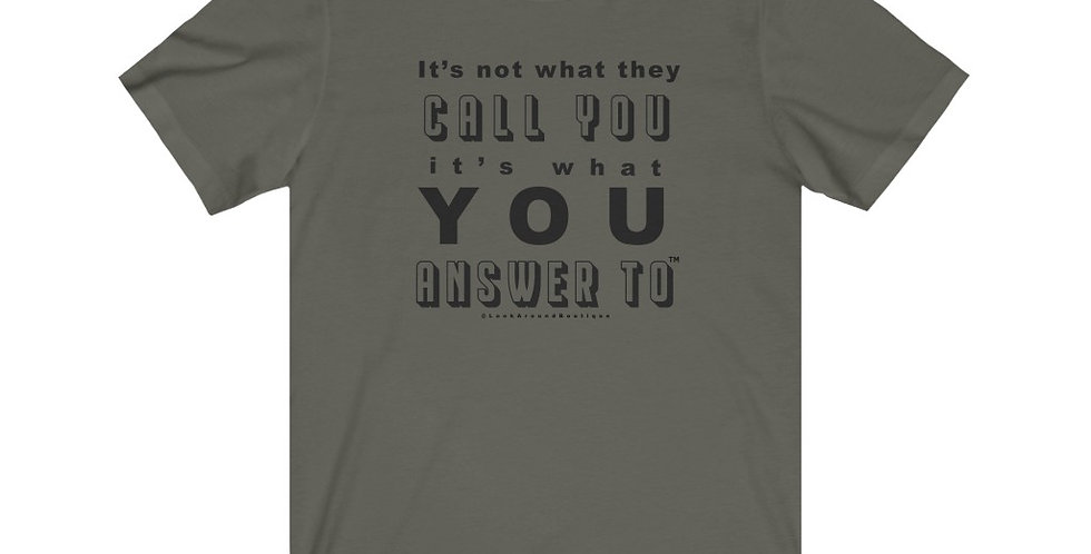 Call & Answer Tee (Black)
