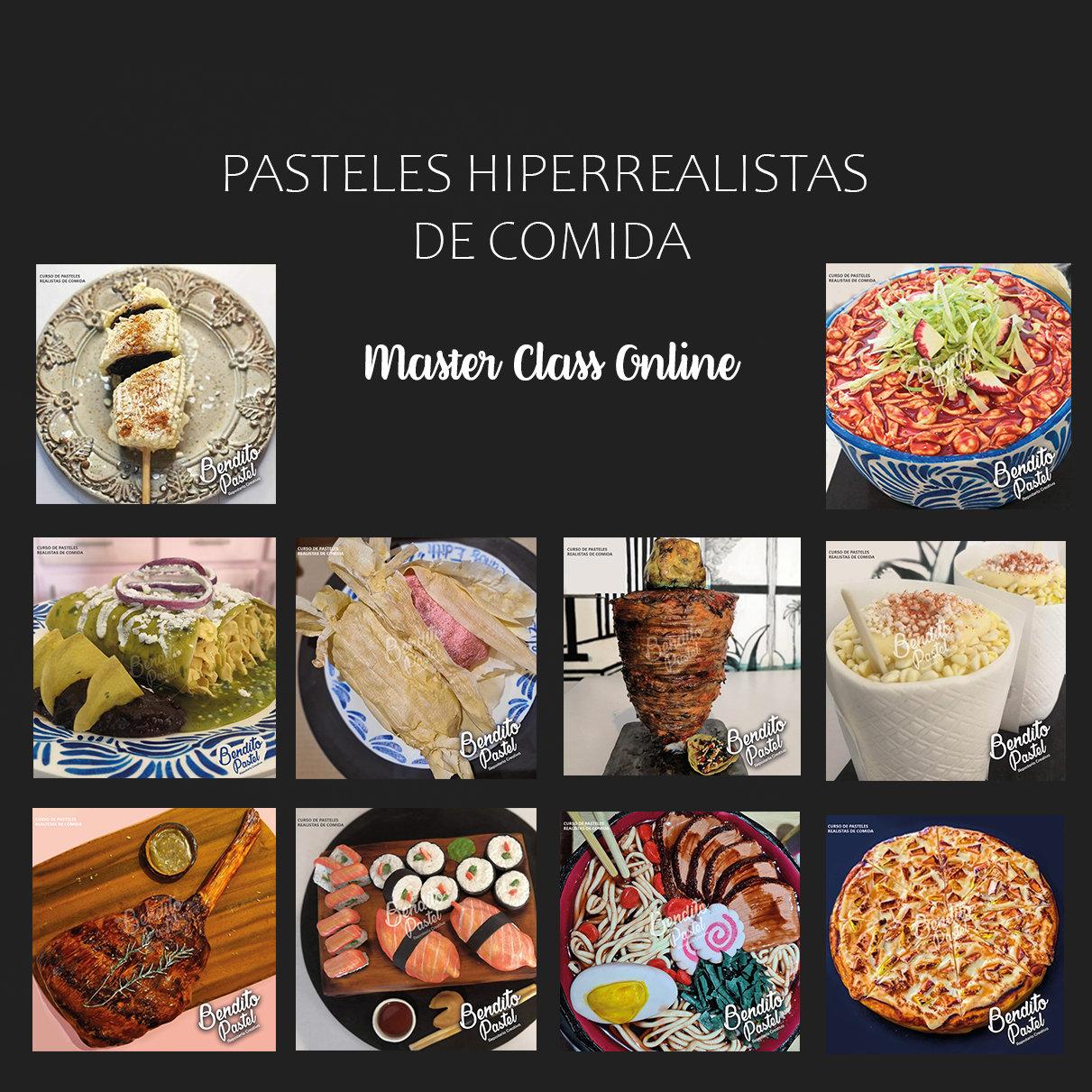 Pasteles Hiperrealistas de comida