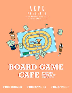 AKPC Boardgame Cafe Flyer