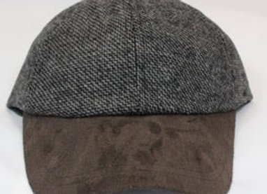 Tweed and Suede Ball Cap