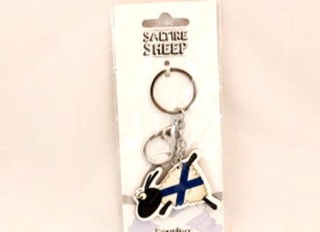 Keychain - Klutzy Saltire Sheep