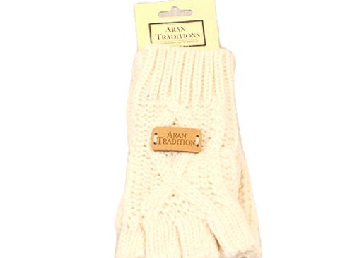 Fingerless gloves - Cream