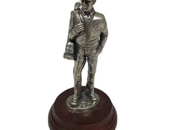 Pewter Golfer Figurine