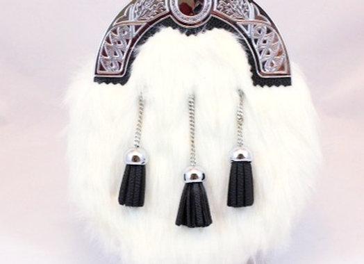 Sporran - white faux fur