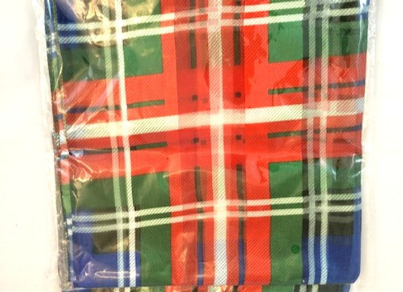 Tartan Scarf, red green and blue