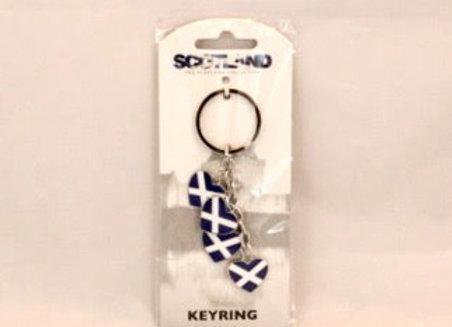 Keychain - Saltire Hearts