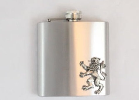 Flask - stainless steel with lion
