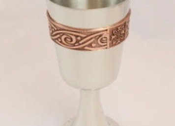 Goblet with celtic copper band