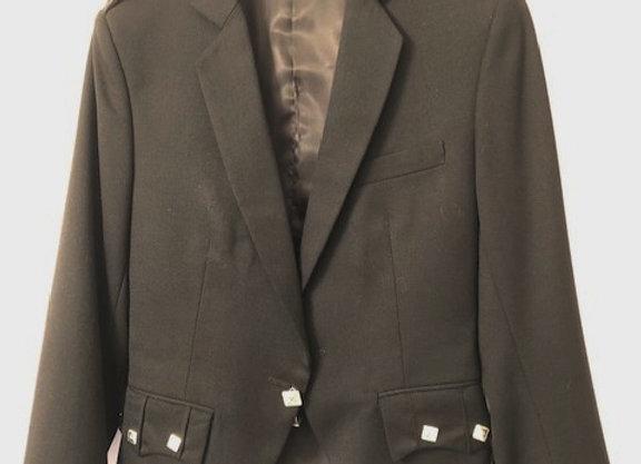 Argyle Jacket (Barathea cloth), single button cuff