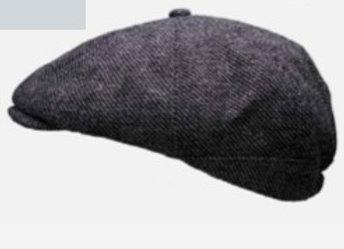 Peaky Panel Cap - Grey Tweed