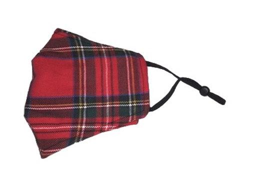 Mask - L - Royal Stewart tartan