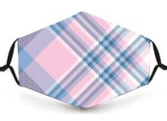 Mask - Pink tartan