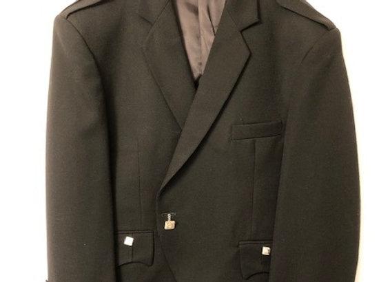 Argyle Jacket (Black Barathea), flat epaulettes