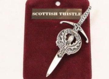 Thistle kilt pin