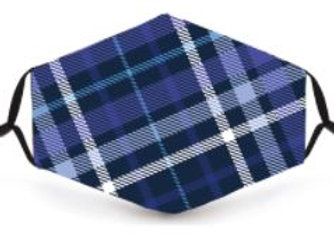 Mask - Purple/blue tartan