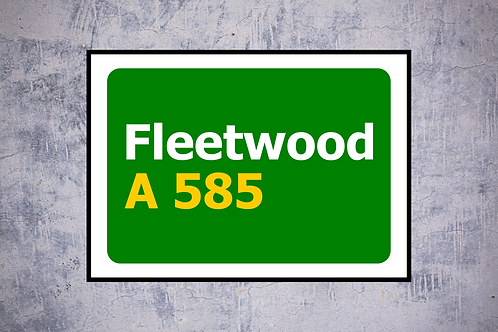 Fleetwood A585 Wall Art | Road Sign Artwork In Frame