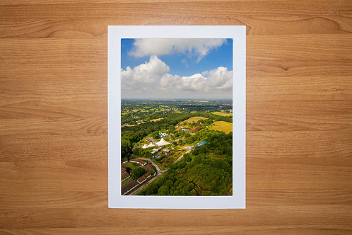 Camelot Theme Park | Aerial Photo Print (In Mount Or Frame) New View Lancashire