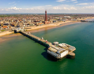 Aerial Drone Photo Of The Blackpool Tower & North Pier & Promenade By New View Lancashire