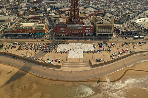 The Blackpool Car Show 2019! Aerial Photo Print (In Mount Or Frame)