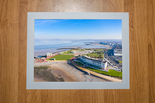 The Midland Hotel Morecambe Aerial Photo Print (In Mount Or Frame)