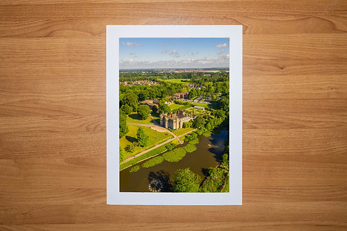 Astley Park & Hall | Aerial Photo Print (In Mount Or Frame) Chorley