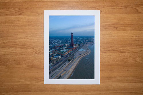 The Blackpool Tower Evening | Aerial Photo Print (In Mount Or Frame) Blackpool