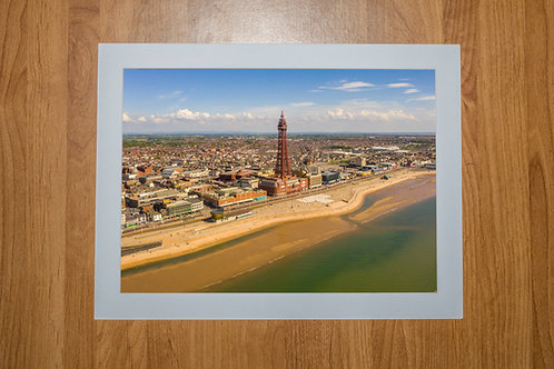 Blackpool Tower | Aerial Photo Print (In Mount Or Frame
