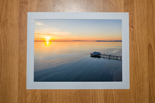 North Pier Blackpool (At Sunset) Aerial Photo Print (In Mount Or Frame)