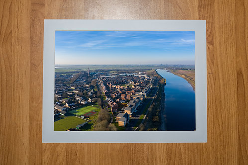 Lancaster Quay Side Aerial Photo Print (In Mount Or Frame)