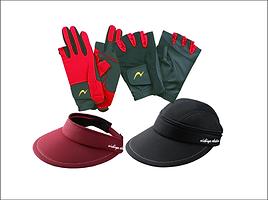 グランドゴルフ用手袋、帽子など
