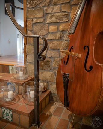 Custom forged ornamental stair railing