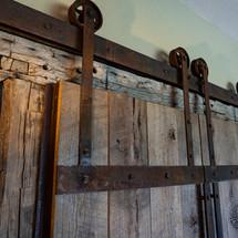 Reclaimed Barnwood Doors with Custom Hardware