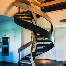 Double Helix Oak & Steel Staircase